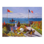 Monet The Garden At St. Addresse Painting Postcards
