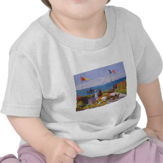 Monet The Garden At St. Addresse Painting Shirts