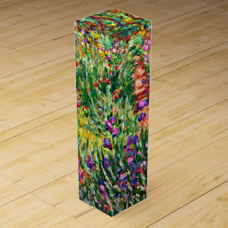 Monet - The Iris Garden at Giverny Wine Bottle Boxes