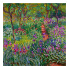 """Monet """"The Iris Garden at Giverny"""" Poster"""