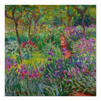 "Monet ""The Iris Garden at Giverny"" Poster"