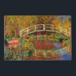 """Monet - The Japanese Bridge Placemat<br><div class=""""desc"""">Claude Monet painting,  The Japanese Bridge</div>"""