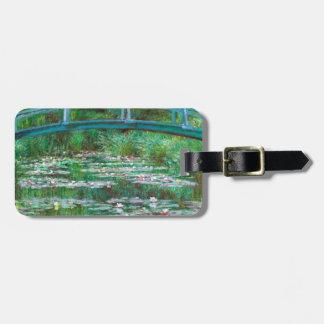 Monet The Japanese Footbridge Fine Art Travel Bag Tag