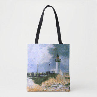 Monet - The Jetty at Le Havre Tote Bag