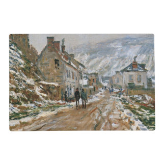 Monet - The Road in Vetheuil in Winter Placemat