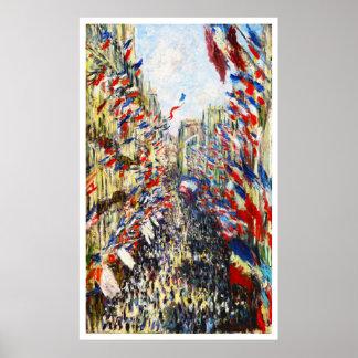 Monet - The Rue Montorgueil in Paris Print