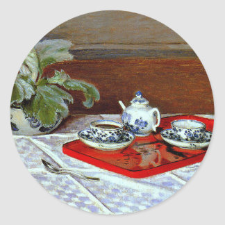 Monet: The Tea Set Classic Round Sticker