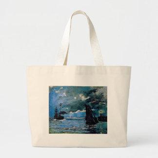 Monet un envío del paisaje marino bolsas de mano