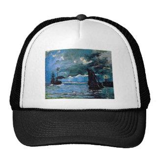 Monet un envío del paisaje marino gorros bordados