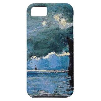 Monet un envío del paisaje marino iPhone 5 carcasa