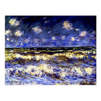 Monet - un mar tempestuoso postal