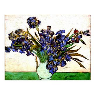 Monet - Vase with Irises Postcard