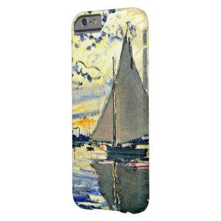 Monet - velero en le Petit Gennevilliers Funda De iPhone 6 Barely There