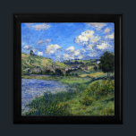 """Monet - Vetheuil, Paysage Gift Box<br><div class=""""desc"""">Monet - Vetheuil,  Paysage jewelry box.</div>"""