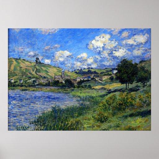 Monet vetheuil paysage poster zazzle - Poster muurschildering paysage ...