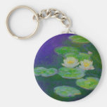 Monet Water Lilies 1897 Key Chain