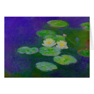Monet Water Lilies 1897 Note Card