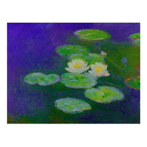 Monet Water Lilies 1897 Postcard