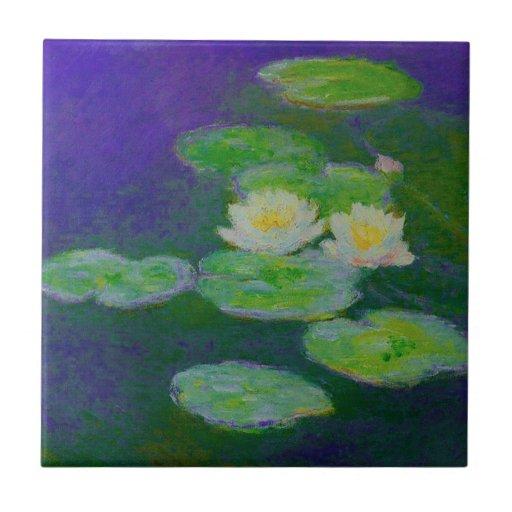 Monet Water Lilies 1897 Tile