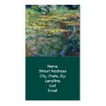 Monet Water Lilies (1904) Fine Art Business Card