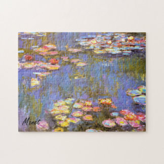 MONET Water Lilies 1916 brite hues 10x14 Puzzle