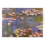 MONET Water Lilies 1916 brite hues Greeting Card