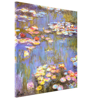 MONET WATER LILIES 1916 brite Stretched Canvas Pri Canvas Print