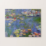 "Monet Water Lilies 1916 Jigsaw Puzzle<br><div class=""desc"">Monet Water Lilies 1916. Oil painting on canvas from 1916. French impressionist Claude Monet remains renowned and beloved for the water lily paintings that he created at his garden pond at Giverny. This specific water lily painting is from 1916 and reveals Monet's move towards increasing abstraction and more varied colors....</div>"