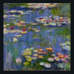"""Monet Water Lilies 1916 Poster<br><div class=""""desc"""">Monet Water Lilies 1916 poster. Oil painting on canvas from 1916. French impressionist Claude Monet remains renowned and beloved for the water lily paintings that he created at his garden pond at Giverny. This specific water lily painting is from 1916 and reveals Monet's move towards increasing abstraction and more varied...</div>"""