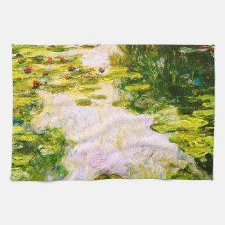 Monet Water Lilies 1917-1919 Fine Art Kitchen Towel