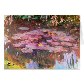 MONET Water Lilies 1917 Greeting Card