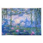 Monet - Water Lilies 1919 artwork Cloth Placemat