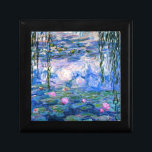 "Monet - Water Lilies, 1919 artwork Gift Box<br><div class=""desc"">Monet - Water Lilies,  1919 artwork trinket/gift box.</div>"