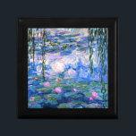 "Monet - Water Lilies, 1919 artwork Gift Box<br><div class=""desc"">Monet - Water Lilies,  1919 artwork trinket/gift box.</div>"