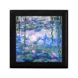 Monet - Water Lilies, 1919 artwork Keepsake Box