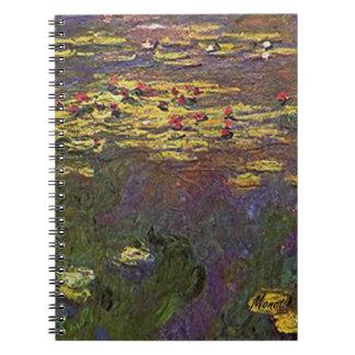 MONET Water Lilies 1920 DIARY JOURNAL Notebook