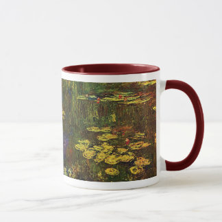 MONET Water Lilies 1920 Maroon Coffee Mug