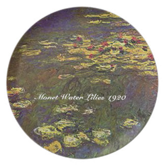 MONET Water Lilies 1920 Plate Signature Collection