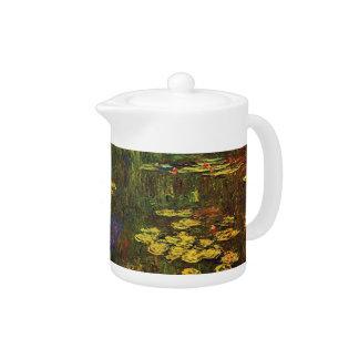 MONET Water Lilies 1920 Teapot Impressionism Art