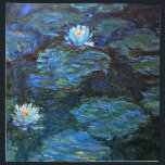"Monet - Water Lilies (blue) Cloth Napkin<br><div class=""desc"">Claude Monet fine art painting,  Water Lilies (blue).</div>"