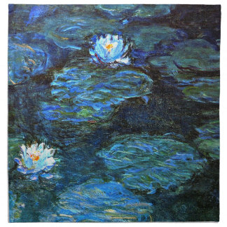 Monet - Water Lilies (blue) Cloth Napkin