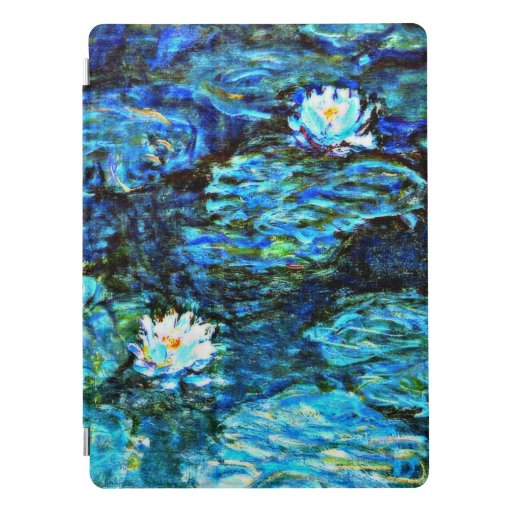 Monet - Water Lilies (blue), famous painting iPad Pro Cover