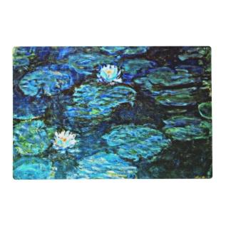 Monet - Water Lilies (blue) Placemat at Zazzle