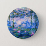 "Monet Water Lilies Button<br><div class=""desc"">Monet Water Lilies button. Oil painting on canvas from 1916. Monet painted his famous water lily pond obsessively during the final years of his career, drawing inspiration from the light of the sun and its shifting effect on the water and the aquatic flowers and foliage. This painting features a vibrant...</div>"
