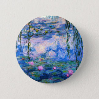 Monet Water Lilies Button