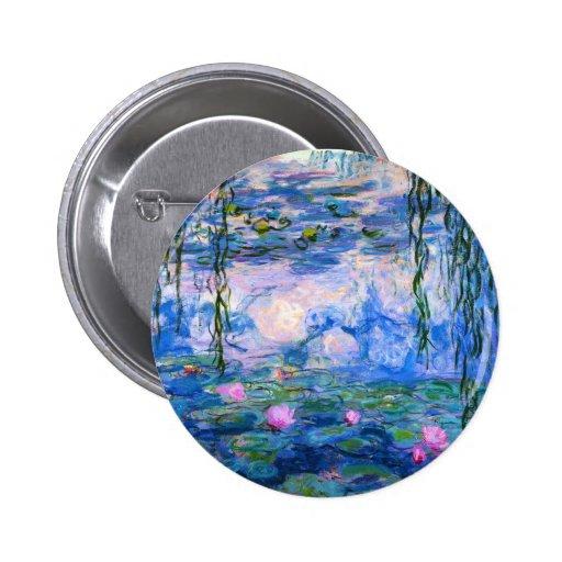 Monet Water Lilies Button