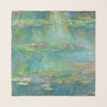 """Monet Water Lilies Chifon Scarf<br><div class=""""desc"""">MONET WATER LILIES  This is a detail from one of Claude Monet's water lilies paintings. NOTE: The design extends to the edge of the scarf and does not include a beige border as it appears in the sample photo. Please choose hem thread color above.</div>"""