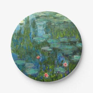 Monet Water Lilies Fine Art (1915) Paper Plate