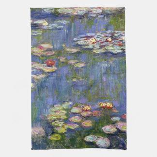 Monet Water Lilies Fine Art (1916) Kitchen Towels