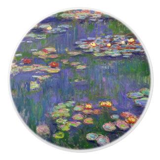 Monet Water Lilies French Impressionist Ceramic Knob